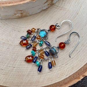 Jewelry - Colorful Gypsy Gemstone Earrings
